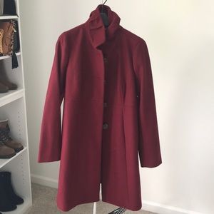 J. Crew Cranberry Wool Coat